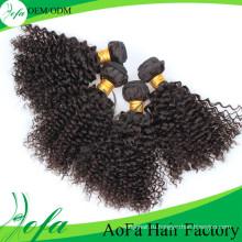 Дешевые 100% Натуральный Бразильский Странный Вьющиеся Волосы Девственницы Выдвижения Человеческих Волос Remy