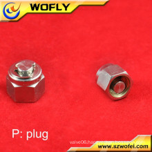 SS316 good material test tube with female screw cap plug