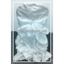 charmante couverture de chaise à volants en taffetas pour mariage, nouvelle couverture de chaise de style et nappe