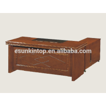 Executive office desk wooden veneer upholstery, Office furniture company in Foshan (A-29)