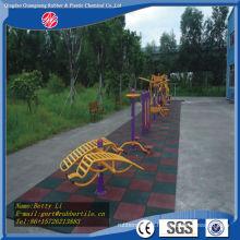 Cerámica de goma al aire libre del azulejo de goma del color de la teja del azulejo de goma del cuadrado de la teja