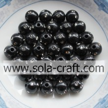 5MM Special Design Artificial Round Disco Dot Beads Black Color