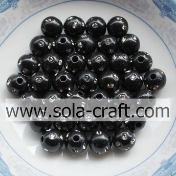 5 mm de diseño especial Artificial Ronda Disco Dot Beads color negro
