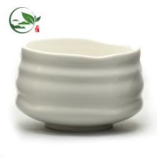 Tigela cerâmica branca personalizada de Matcha da salada do logotipo novo do produto