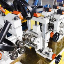 Cabides de tubo de escape dobra rolo máquina anterior