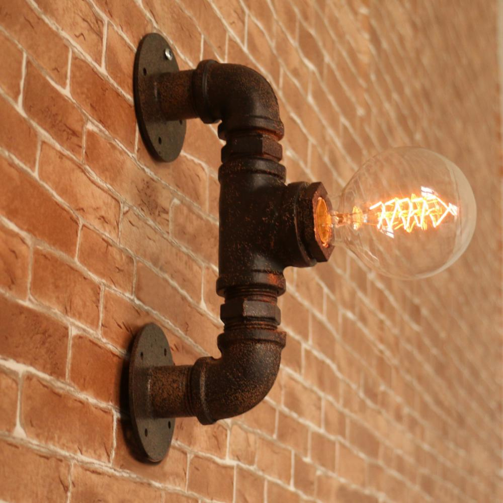 lamp with pipe fitting