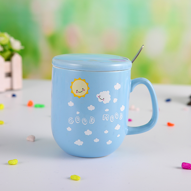Mug With Cover And Spoon