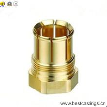 Piezas de torneado del CNC de cobre amarillo de alta calidad
