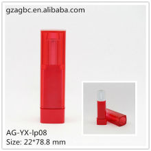 New Arrival Plastic Quadrate Lipstick Tube AG-YX-lp08, cup size 11.8/12.1/12.7mm, AGPM Cosmetic Packaging , Custom colors/Logo