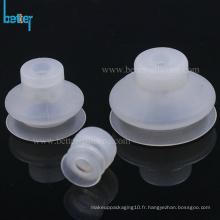 Ventouses à soufflet en caoutchouc de silicone pour verre