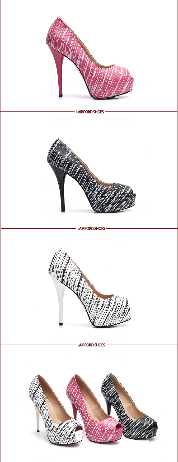 high heel platforms