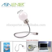 BT-4823 0.5 Вт 30 люмен Гибкий светодиодный USB-адаптер для США