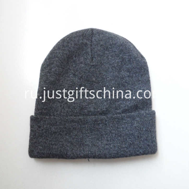 Personalized Winter Promotional Beanie Hat Embroidered Logo