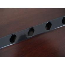 Tube en acier perforé de revêtement en poudre utilisé pour la clôture et le poteau