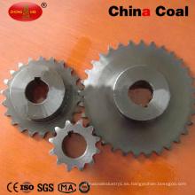 Ensamblaje del conjunto de ruedas dentadas de cadena de rodillos de transmisión industrial de acero