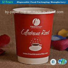 Copas de papel para la leche en alta calidad