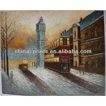 Escena de la calle de Londres París Pintura al óleo hecha a mano