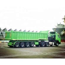 45CBM 60t que carrega 4 eixos despeja o reboque / reboque do caminhão basculante / que despeja o reboque / o reboque multi-eixo da descarga com o um reboque de eixo flutuante