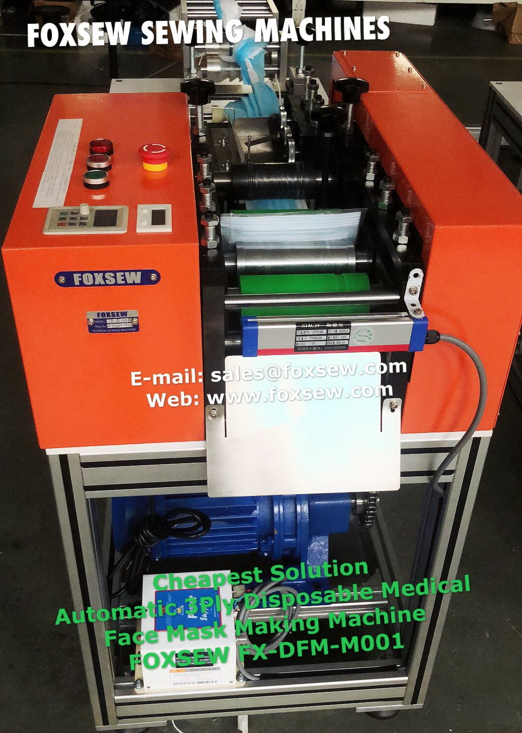 Cheapest Automatic 3ply Disposable Face Mask Making Machine -1