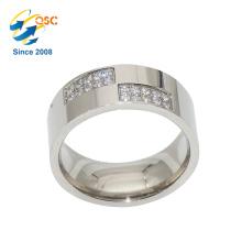 Fashion High Quality Diamant Gold Edelstahl Ehering Rohlinge