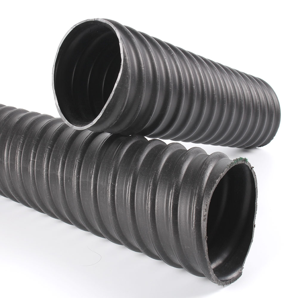 Pre-stressed plastic corrugated pipe