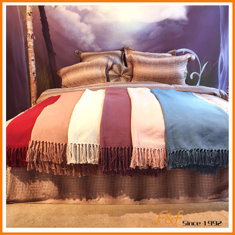 Colorful woven American style blanket
