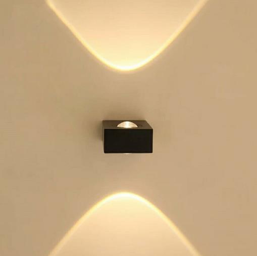 Square Indoor Rustic Sconces Light