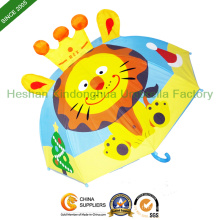Dessin animé Lion enfants Kid parapluie pour garçons et filles (KID-0019ZL)