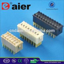 Daier Schwarz / Weiß / Cremefarben 1 ~ 12 Positionen Kunststoff 8421 Tri-State Dip Switch