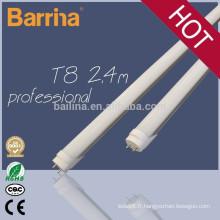 2015 nouvelle conception 2400mm haut de gamme T8 led tube lumière 2,4 m 36w