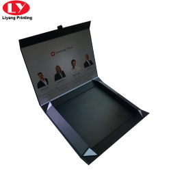 Custom Matt black folding magnetic garment box