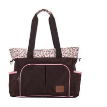 Fashion Pink Leopard Printing Big Mummy Bag