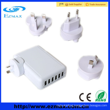 6 ports USB 5V 2.1A universal usb multi charger for phone