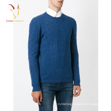Men's Cabled Knit Cashmere Crewneck Sweater,heavy cashmere sweater