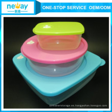Transparente lindo 3 Sets Food Container for Wholesale