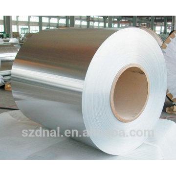 Fabricação de bobinas de alumínio de largura diferente com espessura anti-ferrugem laminada a frio