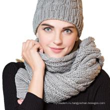 Unisex зимний акриловый кабель вязания шаблон шарф
