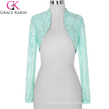 Stock Womens Ladies Long Sleeve Cropped Pale Turquoise Encaje Bolso Bolso BP000049-3