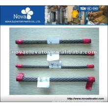 8 * 19S + Cuerda de alambre de acero del elevador de IWR, cuerda del elevador