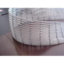 Maille tissée de corde de fil d'acier inoxydable