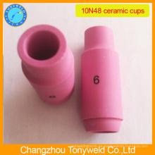 Tig de soldadura pieza de la antorcha 10N48 cerámica boquilla