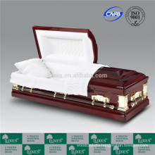 LUXES US Style Cheap Burial Wood Caskets For Funeral