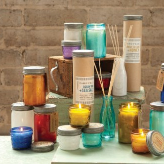 Relish Collection scented soy wax candles in jar