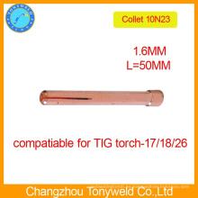 10N23 Pinza de 1,6 mm para soldar piezas de soldadura TIG