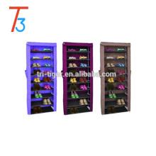 Modern sliding door shoe storage cabinet for 9 tier