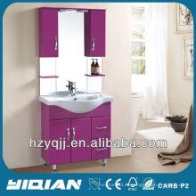 Hot Sale Diseño iraquí y turco de pie libre simple con armarios Brillo Cuarto de baño Voilet MDF tocador de baño