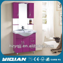 Hot Sale Free Standing Iraqi & Turkish Design Simples com Armários Gloss Voilet Gabinete de Banheiro MDF Vanité de banheiro