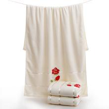Toalhas de banho concisas do algodão do bordado do estilo com flores