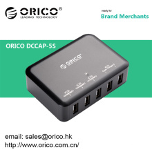 ORICO DCAP-5S cargador de pared USB de 5 puertos para Ipad / Iphone con Intelliegent IC de carga
