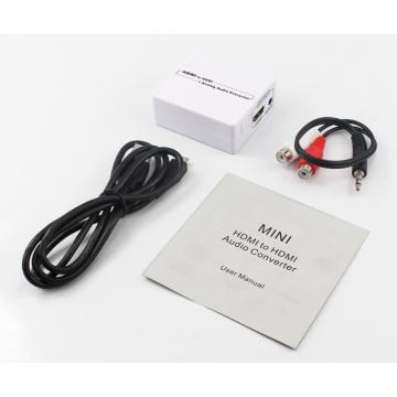 Extrator de áudio HDMI com saída estéreo e óptica